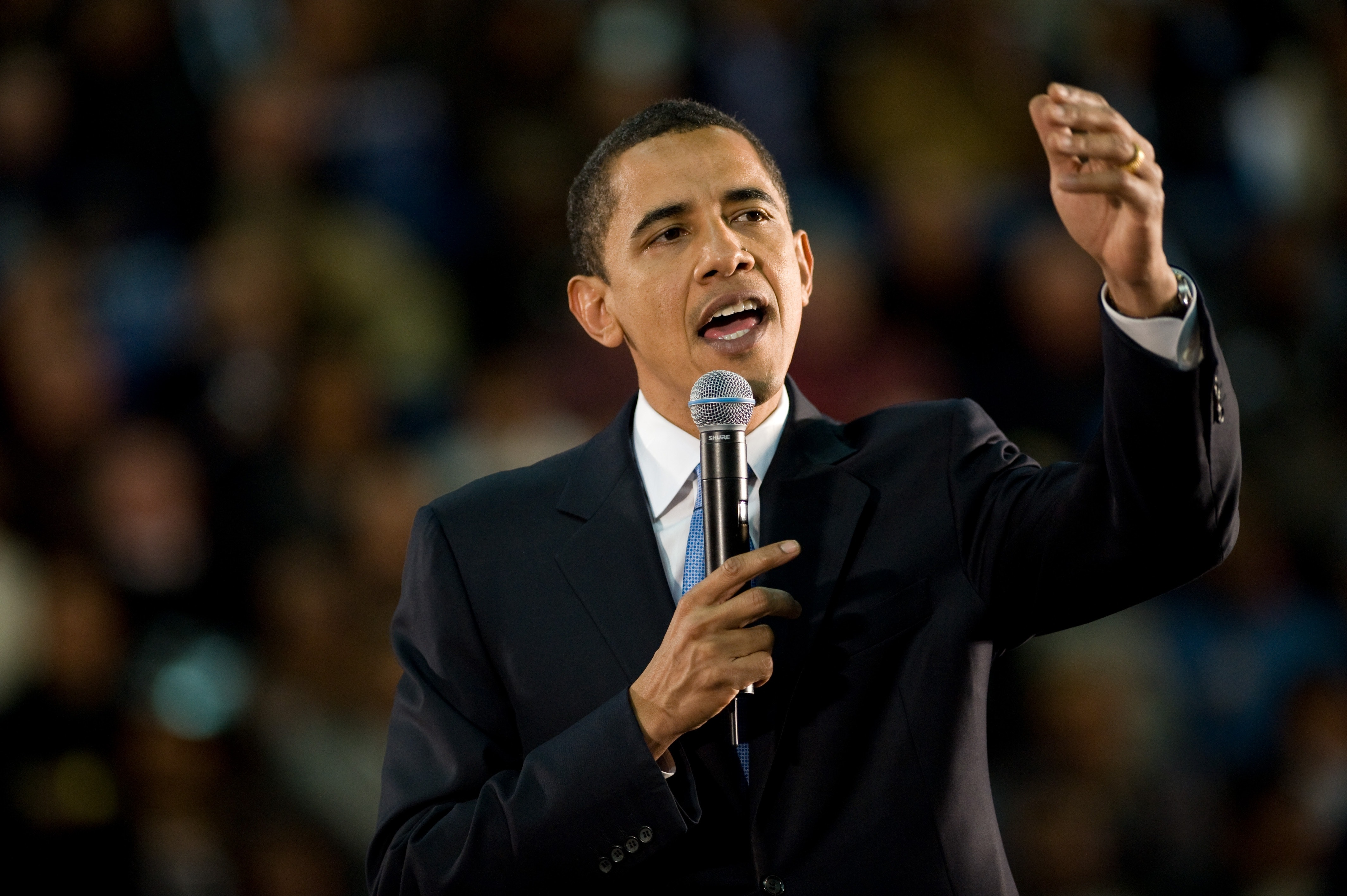 Obama ledde